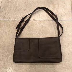 NWOT  FURLA mocha brown leather handbag